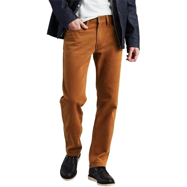 Levi's Mens 514 Straight Leg Jeans, brown, 34W x 30L. Opens flyout.