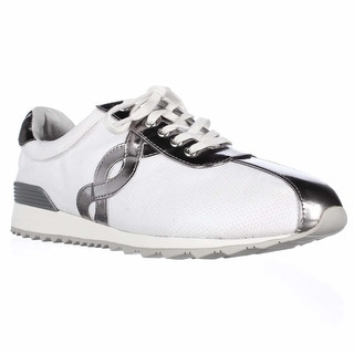 Easy Spirit Lexana Lace Up Sneakers, White/Silver