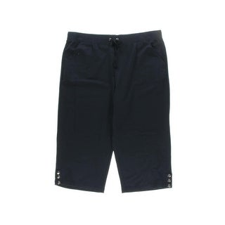Karen Scott Womens Plus Capri Pants Drawstring Cropped - XxL