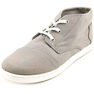 Toms Paseo Mid Youth   Canvas Gray Fashion Sneakers
