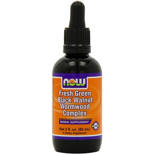 Now Foods Fresh Green Black Walnut Wormwood Complex 2 fl oz - 38 Servings - Anti-Parasites - Healthy Skin - Anti-fungal