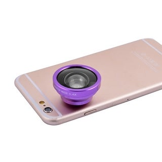 Universal Clip HD Super Wide 0.4X Angle Selfie Cam Lens Purple for Cell Phone