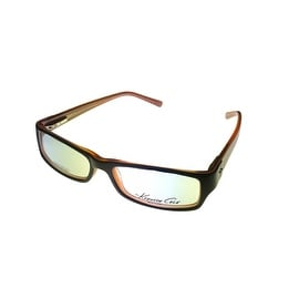 Kenneth Cole New York Ophthalmic Frame Black Brown Plastic Rectangle KC116 5 - Medium