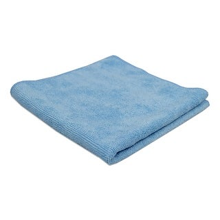 AMMEX Blue Microfiber Towels (Bag of 12 towels)