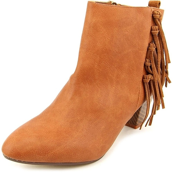 Thalia Sodi Womens LORYS Leather Pointed Toe Ankle Fashion Boots