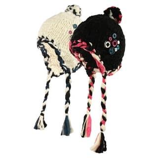 89ad5186eb4e2 SALE. Ribbon   Button Crafty Trapper Winter Hat - One size