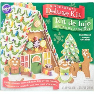 Unassembled Deluxe Giant A-Frame Gingerbread House Kit-