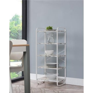 Inroom Furniture Designs Bakers Rack - White, 43 x 19 x 13 in.