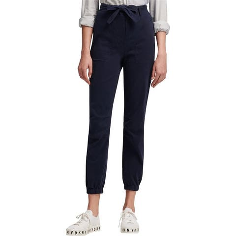 Dkny Womens Belted Pull On Casual Jogger Pants