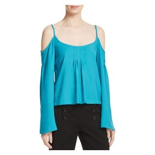 Nanette Lepore Womens Casual Top Pleated Bell Sleeves