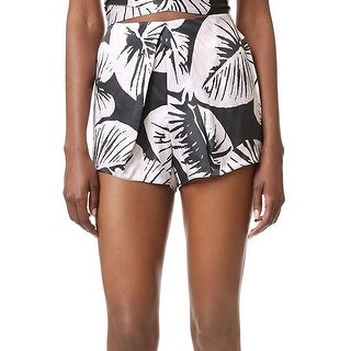 Kendall + Kylie NEW Black Women's Size Medium M Leaf Tropical Shorts