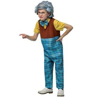 Rasta Imposta Grandpa Child Costume - Blue/Brown (2 options available)