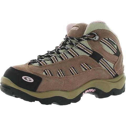 Hi-Tec Womens Bandera Mid Hiking Boots Suede Waterproof - Taupe/Blush - 6 Medium (B,M)