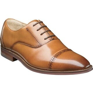 Stacy Adams Men's Barris Cap Toe Oxford 25190 Tan Smooth Leather