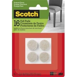 3M 236640 0.75 in. Scotch Beige Round Felt Pads - 16 Count