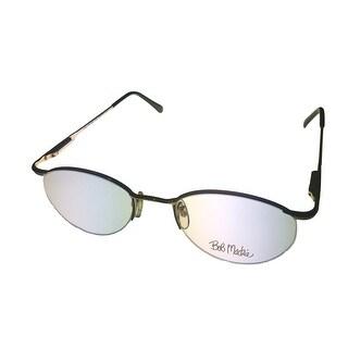 Bob Mackie Mens Opthalmic Eyeglass Tear Drop Metal BM 801 Gold Black - Medium