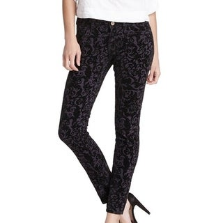 Romeo + Juliet NEW Charcoal Women's Size 28X28 Damask Skinny Jeans