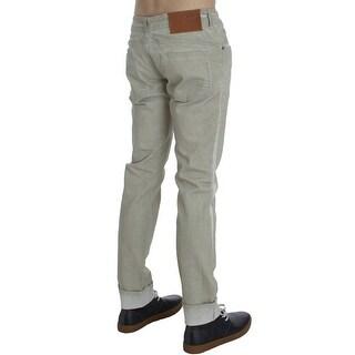 ACHT Beige Wash Cotton Slim Skinny Fit Jeans - w34