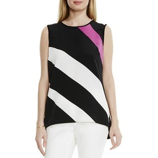 Vince Camuto Womens Blouse Striped Sleeveless