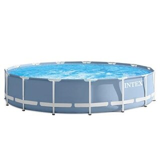 "Intex 15' X 33"" Prism Frame Above Ground Swimming Pool Set With Pump"