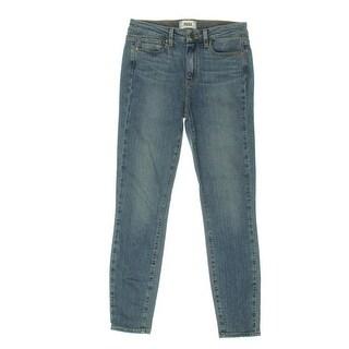 Paige Womens Hoxton Medium Wash Classic-Rise Ankle Jeans