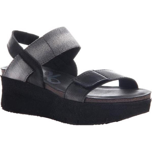 3c2ca28819 Shop OTBT Women's Nova Platform Sandal Black Leather/Textile - Free  Shipping Today - Overstock - 14498118