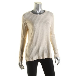 One Clothing Womens Striped Slit Sides Casual Top