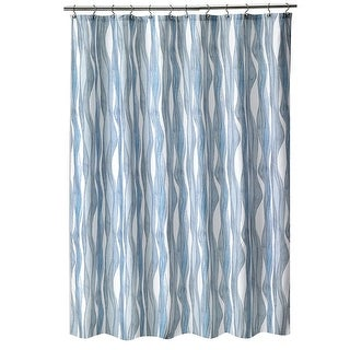 Shell Rummel Designed Fabric Tide Lines Shower Curtain, 70x72 Inches