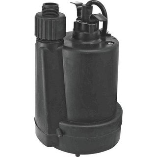 Superior Pump 91250 Thermoplastic Submersible Utility Pump, 1/4 HP