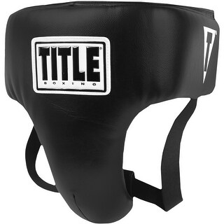 Title Boxing Deluxe Form Fitting Wrap-Around Groin Protector Plus - Black