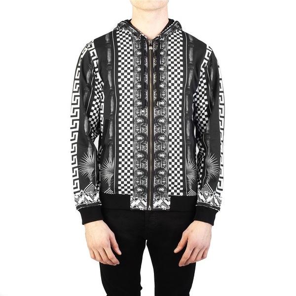 947a3a987c Versace Versus Men  x27 s Baroque Medusa Cotton Zip-up Sweatshirt Black
