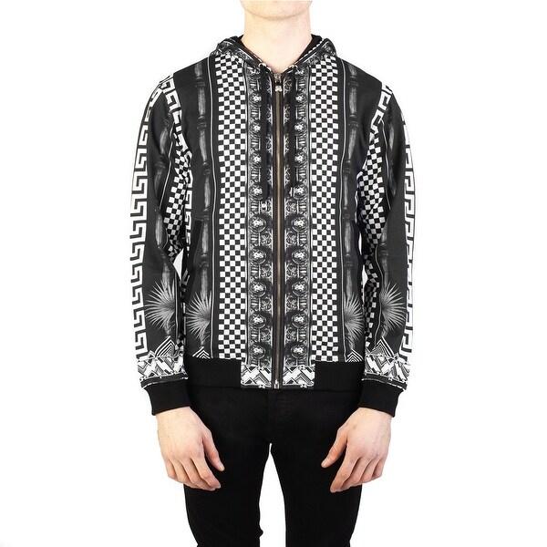 ea7a9bcf1e Shop Versace Versus Men's Baroque Medusa Cotton Zip-up Sweatshirt ...
