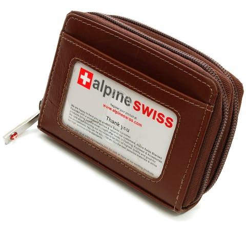 Alpine Swiss Womens Accordion Organizer Wallet Leather Credit Card Case ID - One Size