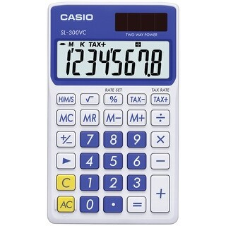 Casio(R) - Sl300vcbesih - Blue Solar Wallet Calc