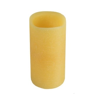 "6"" Golden Amber Battery Operated Flameless LED Wax Christmas Pillar Candle - N/A"