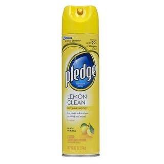 Pledge 72372 Furniture Polish, Lemon, 9.7 Oz.