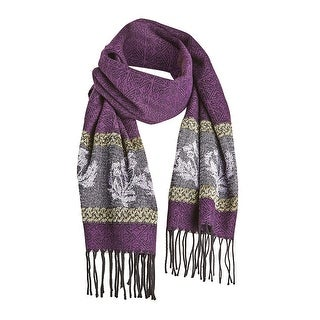 Link to Catalog Classics Women's Celtic Thistle Scarf - Purple Wrap with Fringe - One size Similar Items in Scarves & Wraps