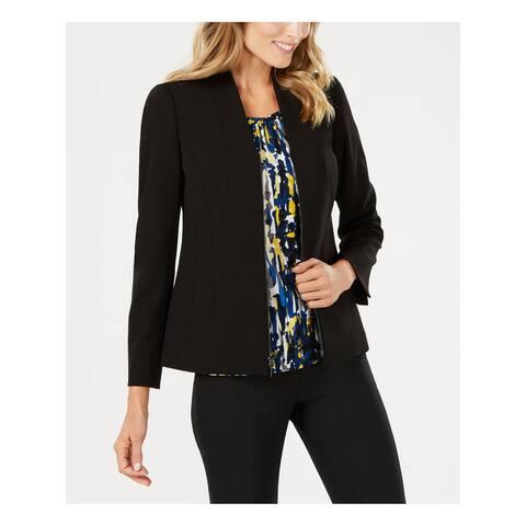 KASPER Womens Black Zip Up Wear to Work Jacket Size 4