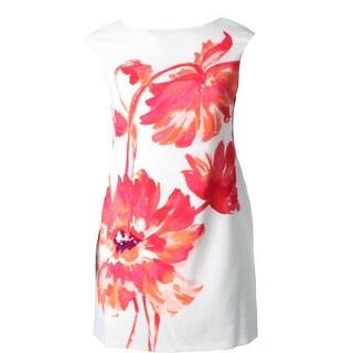 Lauren Ralph Lauren Womens Petites Wear to Work Dress Crepe Floral Print