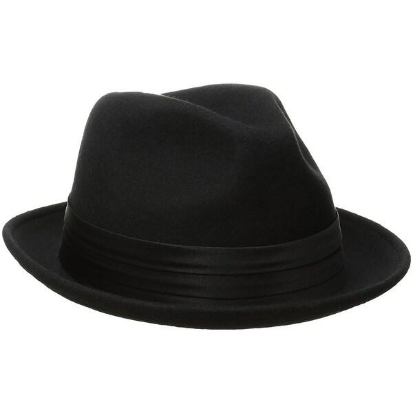 39fb87be2aef2 Shop Stacy Adams Men s Crushable Wool Felt Snap Brim Fedora Hat - X ...