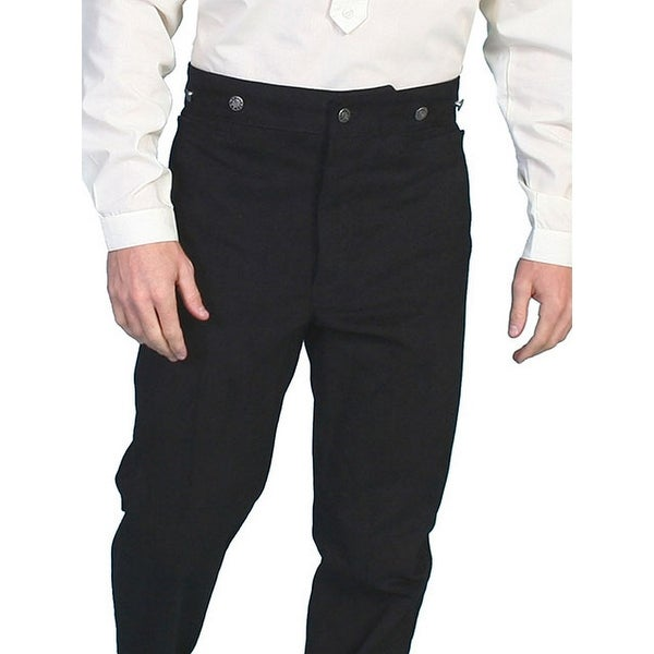 Scully Western Pants Mens Frontier Style Suspender Buttons - Black