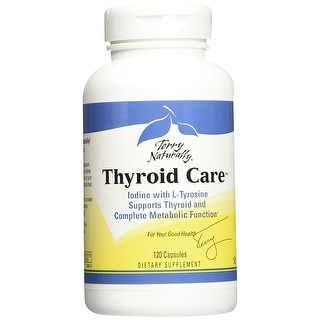 Terry Naturally Thyroid Care - 120 Capsules - Supports Thyroid and Complete Metabolic Function - Daily Energy