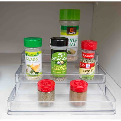 3 Tier Plastic Spice Rack, Clear