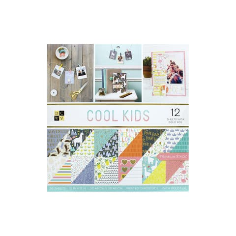 DieCuts Paper Stack 12x12 Cool Kids