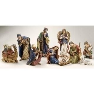 10-Piece Joseph's Studio Ornate Religious Christmas Nativity Statue Set