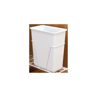 Rev-A-Shelf 6700-61  6700 Series Single Bin Replacement Trash Can - 30 Quart Capacity - White