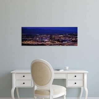 Easy Art Prints Panoramic Images's 'Aerial view of a city at night, Tucson, Pima County, Arizona, USA' Canvas Art