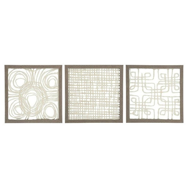 Odella Cream-Taupe Wall Decor Set A8010009 - Set Of 3 Odella Cream-Taupe Wall Decor Set - Set Of 3