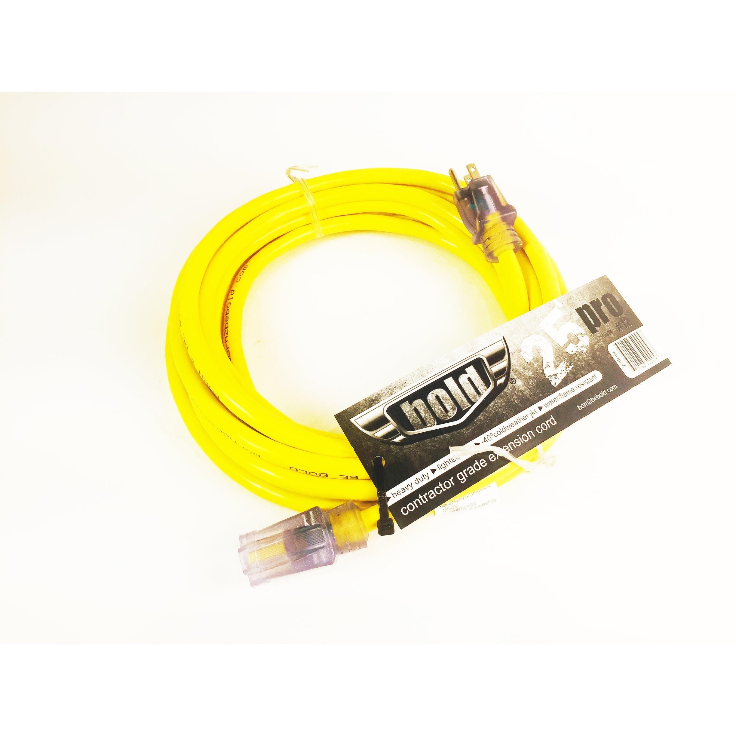 15A-125V 12//3 25/' HD EXTENSION CORD LIGHTED END FREE SHIP