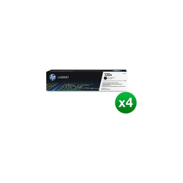 HP 130A Black Original LaserJet Toner Cartridge (CF350A)(4-Pack)